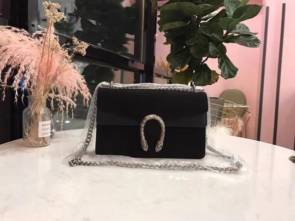 2018 Yeni Varış Kadın kadife süet Çanta Zarif omuz çantası Moda Kontrast Renk Yüksek Kaliteli Omuz Çantaları 28 cm ücretsiz kargo