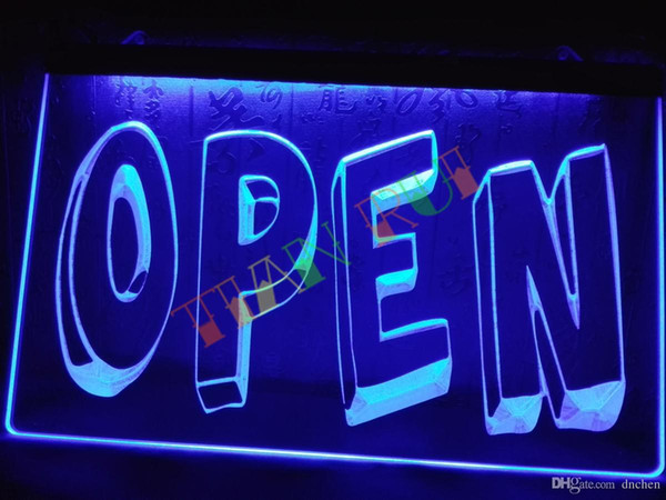 LB199-b OPEN Cartoon Display Shop Welcome Neon Light Sign home decor shop crafts led sign.jpg