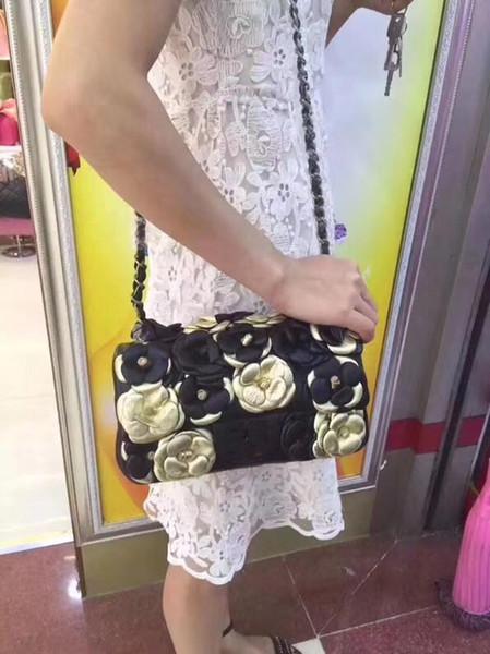 2018 Hot! Hot! Hot!Women's luxury single-shoulder bag, designer women's chain bag, women's leisure bag, size: 25.5*14*7CM