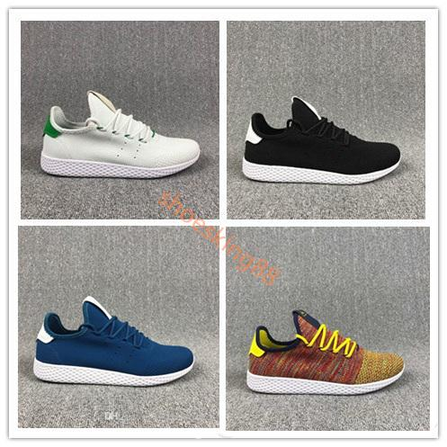 finest selection 990a2 64a74 New arrive Pharrell Williams x Stan Smith Tennis HU Primeknit men women  Running Shoes Sneaker breathable