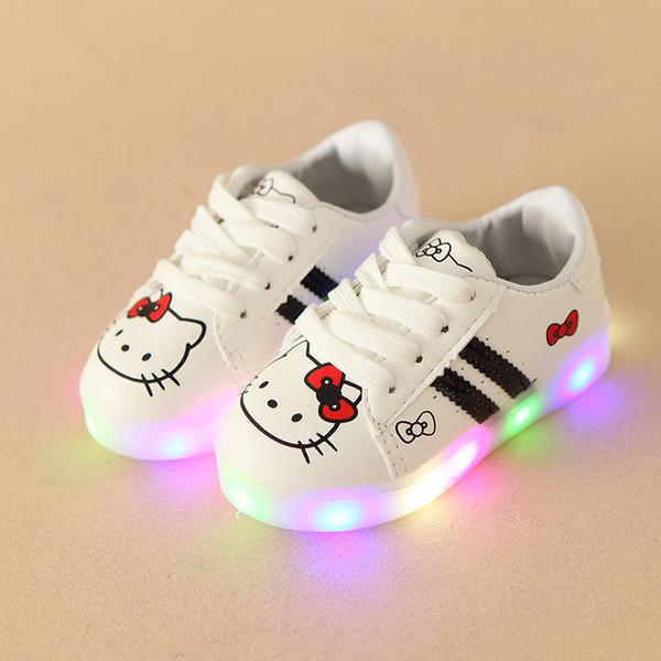 2017 nova marca europeia moda led iluminação shoes baby hot sales cute girls meninos shoes linda brilhante bebê sneakers