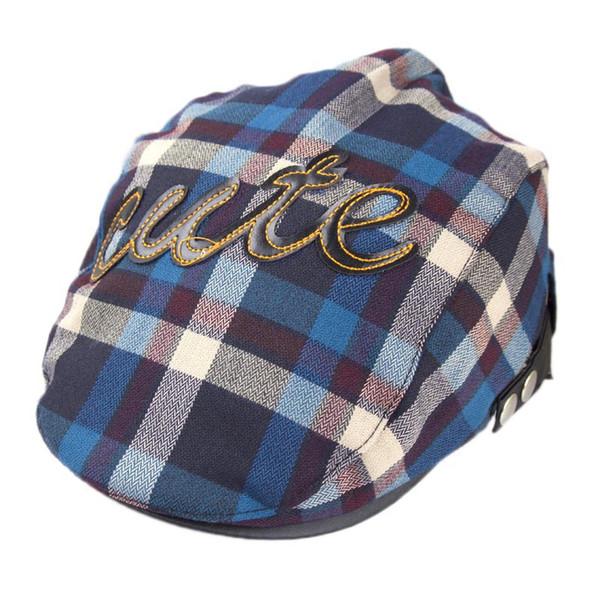 Plaid Berets Fashion Winter Autumn Baby Hat Newsboy Caps Children Beret Kids Leisure Caps Hats Boy Flat Beret Sun Cap #YL