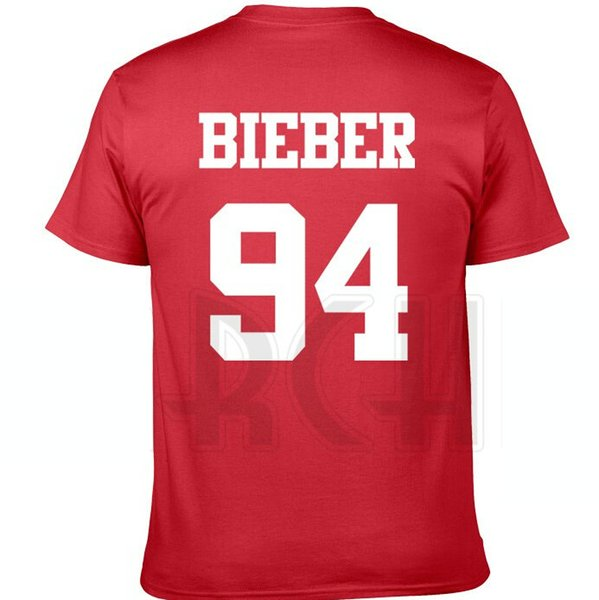 94 born t shirt Justin Bieber short sleeve gown Quick dry sport tees Color clothing Quality cotton Tshirt