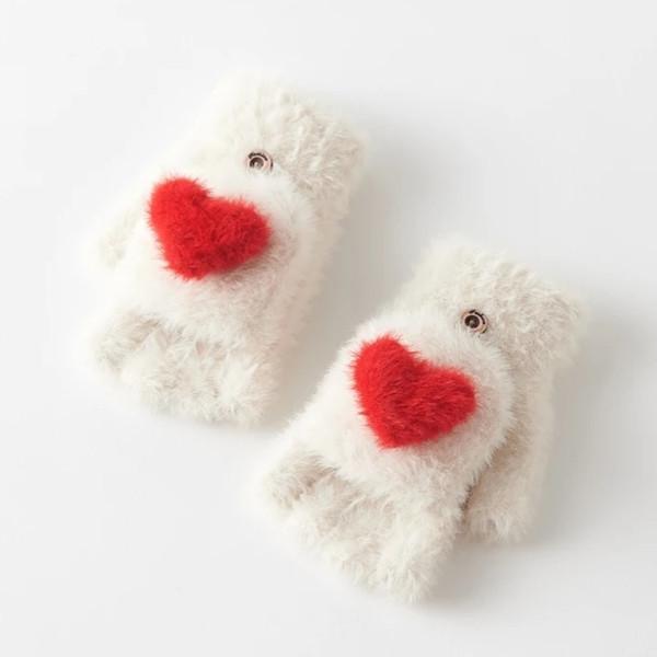 Love touch guanti inverno femminile versione Han di dolce studente giapponese guanti di lana inverno femminile bella calda