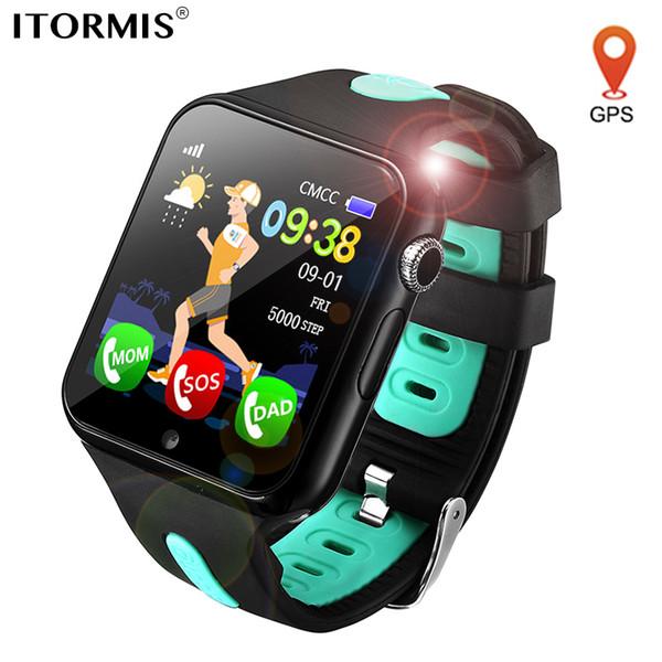 ITORMIS Kinder Smart Watch GPS-Uhr-Smart Baby Telefon Smartwatch für Kinder Ort Wasserdicht Touch-Screen-PK Q50 Q90