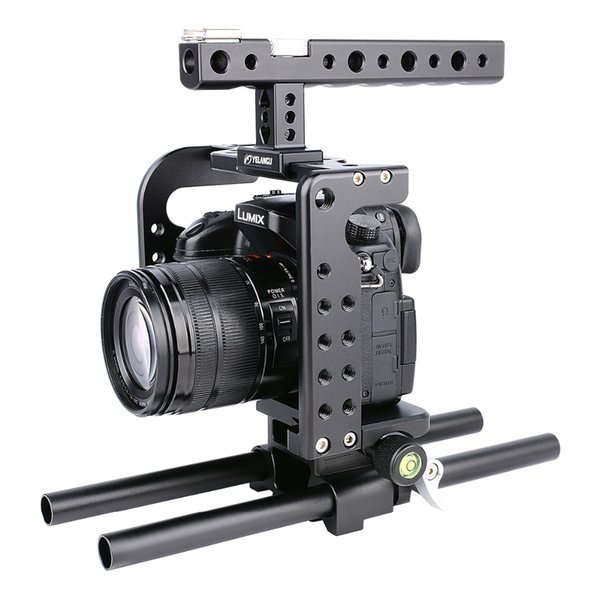 wholesale C7 Video Dslr Camera GH5 Cage Black Aluminum Alloy with Top Handle Grip for panasonic GH5