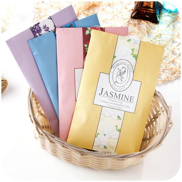 5 Taste Natural Plant Sachet Bag Fresh Air Scented Fragrance Car Perfume Sachet Bag Home Wardrobe Drawer Aromatherapy package 5Z