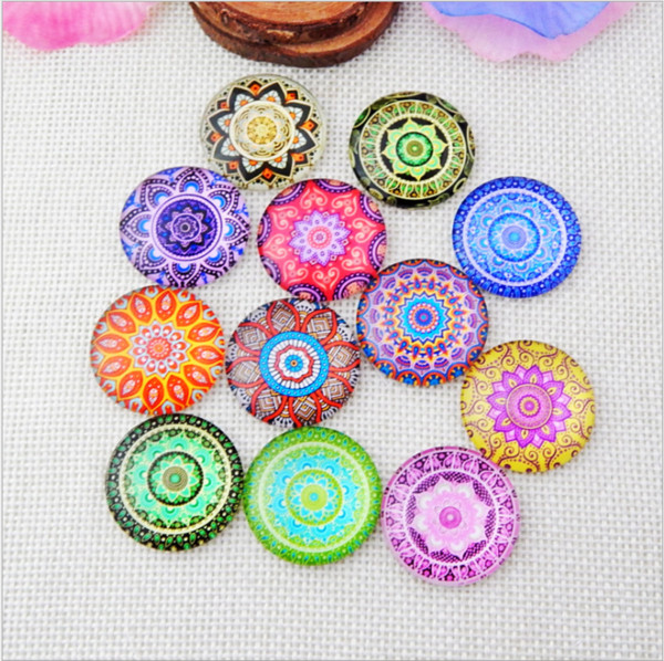 50pcs 2018 HOT selling Kaleidoscopegalss Snap button Charm Popper for Snap Jewelry picture pendant