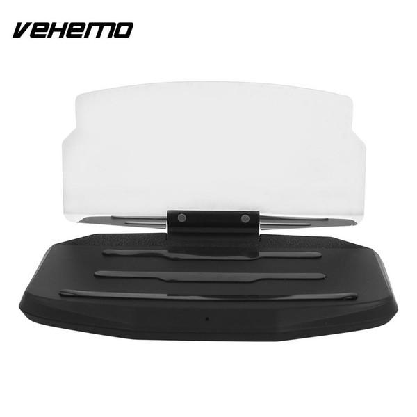 Vehemo 5W Black Phone HUD Stand Head-Up Display Car GPS Holder Projection Bracket High Performance Multi-Functional