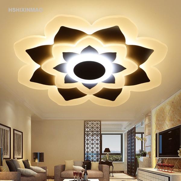 Acheter Plafonnier Chaud Moderne Simple Rond Ultra Mince Chambre Créative  Lampes Sous Chambre Restaurant Lumières Acrylique Gradation Plafonniers De  ...