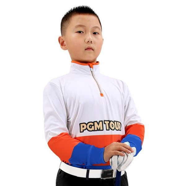 best selling Boys Zipper Golf Trainning T Shirts Breathable Quick Dry Clothing Long Sleeve Tennis Golf T-Shirts High Quality AA51876