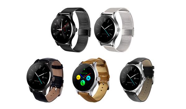 K88H Montre Smart Watch 1.22 pouce Ronde Vue complète Moniteur de fréquence cardiaque Bluetooth Podomètre Montre-bracelet Pour Android IOS
