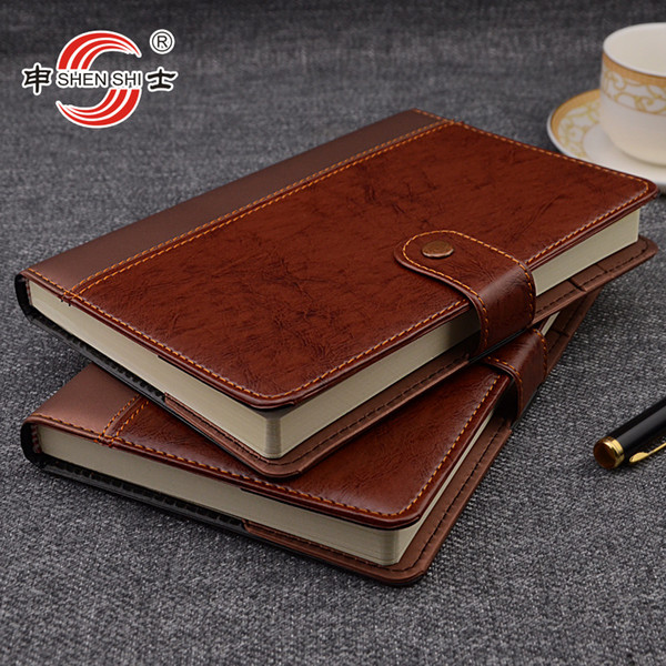A5/B5 buckle leather notebook business office stationery custom-made diarybook custom 1 pcs