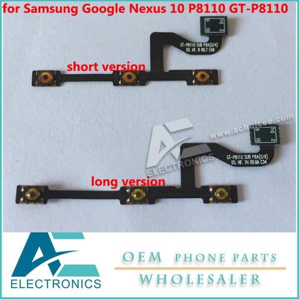 Samsung Google Nexus için 10 P8110 GT-P8110 Güç Düğmesi Ses Flex Kablolar Ücretsiz Nakliye