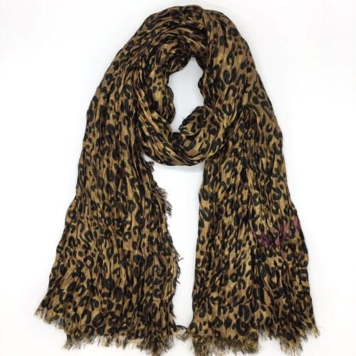 Brand classic design good qualtily wool & silk big size 200cm-130cm print leopard fashion Warm scarf for women