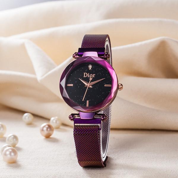 Fashion Luxury Women Bracelet Watch Quartz Rose Gold Silver Black