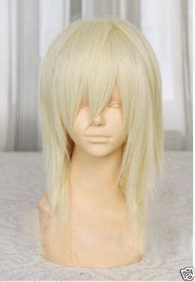 New wig Cosplay New Medium Light Blonde Straight Wigs