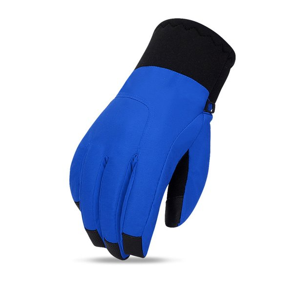 Thicken Ski Skiing Gloves Unisex Winter Fleece Thermal Cycling Glove Windproof Waterproof Outdoor Skiing Snow Snowboard Gloves