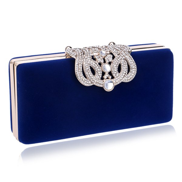 XINDI Clutch evening bags Crown rhinestones purse shoulder bag for wedding Diamonds Lady Purse Luxurious Women Small Day Clutch