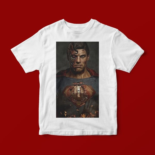 CYBORG SUPERMAN T-SHIRT UNISEX 325 High Quality Casual Printing Tee O-Neck Hipster
