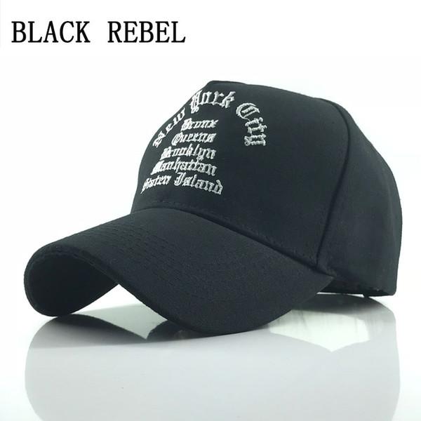 Black Rebelde Gorra de béisbol 100% lavada Sombreros del Snapback Sombrero  del verano del otoño e2830f51f16