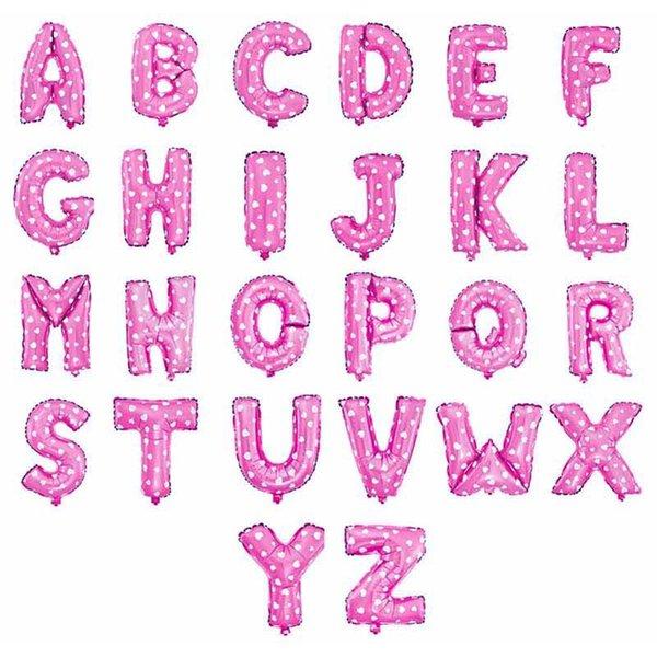 lettere rosa dalla A alla Z