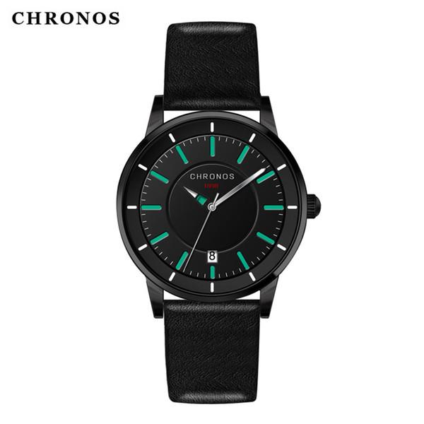 Wholesale Watches Battery Genuine Leather Watches Men Fashion Roman Calendar Quartz Wrist Watch Men Luxury Sports Clock Military Watch Cheap