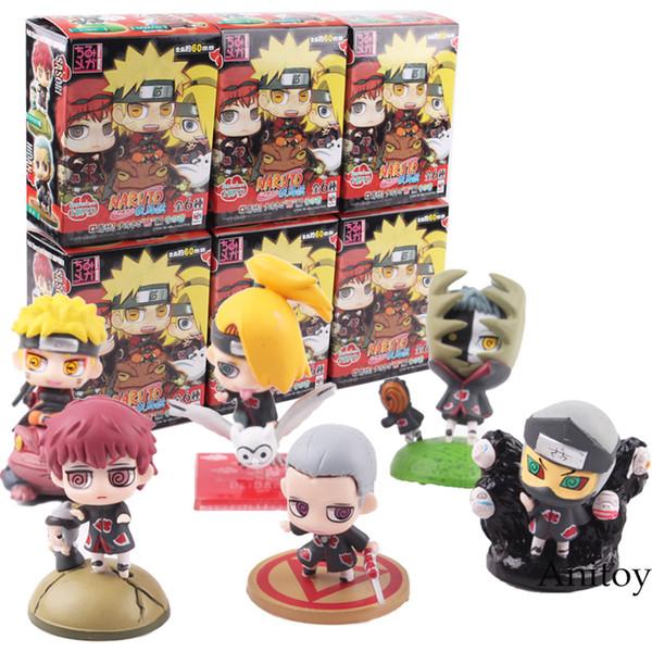 ction & Toy Figures Naruto Shippuden Figure Naruto Itachi Sasuke Orochimaru Konan Pain Kisame Yahiko Mini PVC Action Figure Toy 6pcs/...