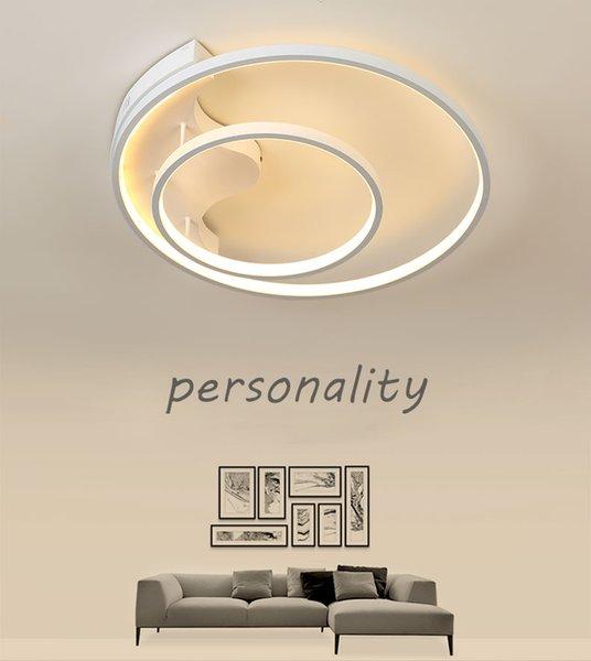 Dimmbare moderne Deckenleuchte kreisförmige Deckenleuchter 2 Ringe mit Fernbedienung Innenbeleuchtung für Wohnzimmer Schlafzimmer Restaurant