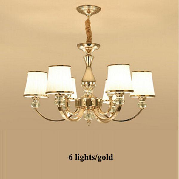 Ampoule chaude à 6 lumières dorées