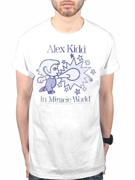 Official Alex Kidd In Miracle World NEW T-shirt Sega Video Game Console Kids