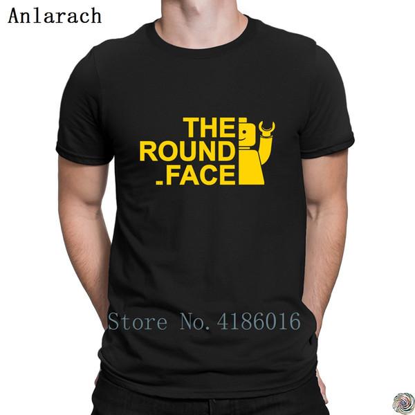The Round Face t-shirts hip hop Unique Printemps Comical t-shirt pour les hommes à manches courtes caractère impressionnant solide de base