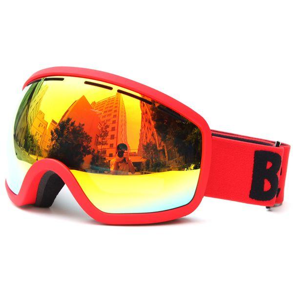 Anti-fog Skiing Glass Men Women Snowboard Goggles PC+UC Ski Eyewear Big Ski Mask For Outdoor Sports Multi Glasses S102G