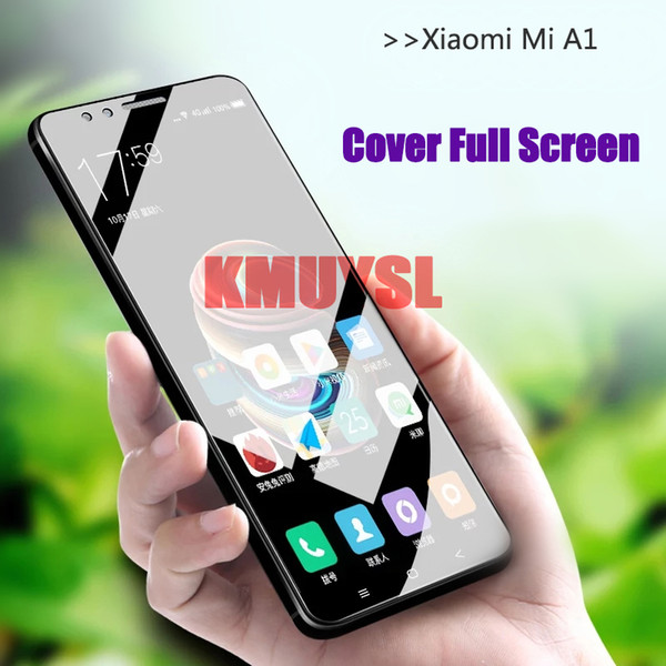 9H 2.5D Tempered Glass For Xiaomi Mi A1 Mi 5X Screen Protector Anti Blu-ray Glass Protective film For Xiaomi a1 5.5 inch