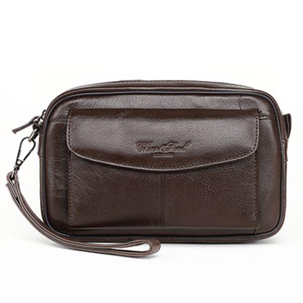 Casual wallet men's genuine leather bag male clutch bag coin purse men handbag key men male purse moblie phone pocket