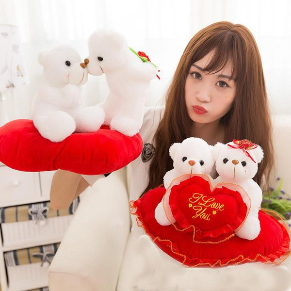 2018 Creative cute LOVE puppy LOVE teddy bear dolls stuffed animals toys valentine's day gift plush toys wholesale a