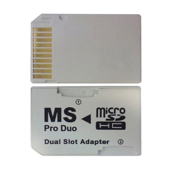 NOYOKERE Yeni Sıcak Satış Için Çift 2 Yuvası Mikro SD SDHC TF Memory Stick MS Kart Için Pro Duo Okuyucu Adaptörü PSP