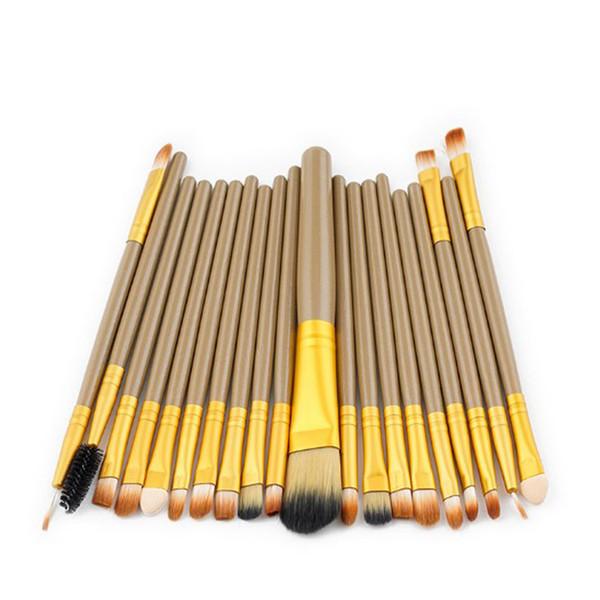 Kit de pinceau de maquillage professionnel 20 pcs / set cosmétiques esthéticienne Maquillage Pinceaux Yeux de sourcil