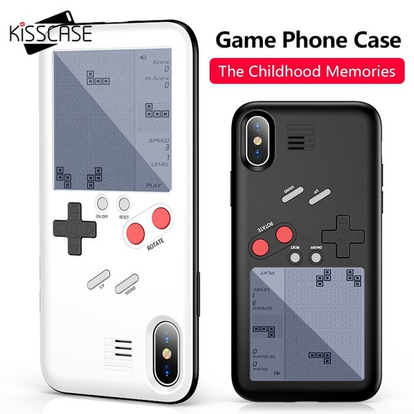 wholesale Tetris Game Machine Phone Case For iPhone 6 6S Plus For iPhone 7 8 Plus X Cover Black Game Console Case