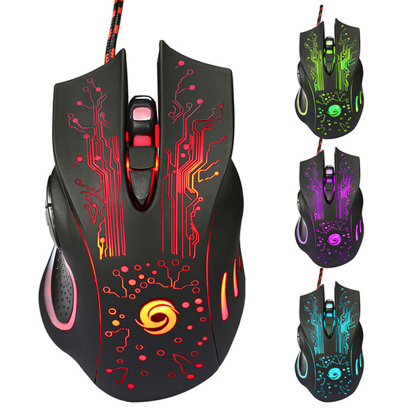 6D USB Kablolu Gaming Mouse 3200 DPI 6 Düğmeler LED tical OpProfessional Pro Fare Gamer Bilgisayar Fareler PC Laptop için