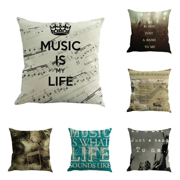 Музыка концертные ноты белье подушка офис подушка наволочка пользовательские декоративные подушки подушка наволочки наволочка