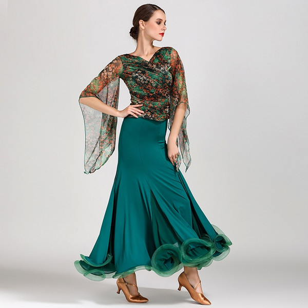 2019 style Standard ballroom dancing clothes ballroom waltz dresses standard ballroom dress modern dance dress Foxtrot flamenco top skirt