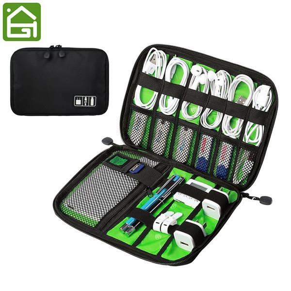 Large Shockproof Usb Cable Earphone Storage Bag Flash Drive Organizer Digital Gadget Holder Travel Cellphone Mobile Charger Case