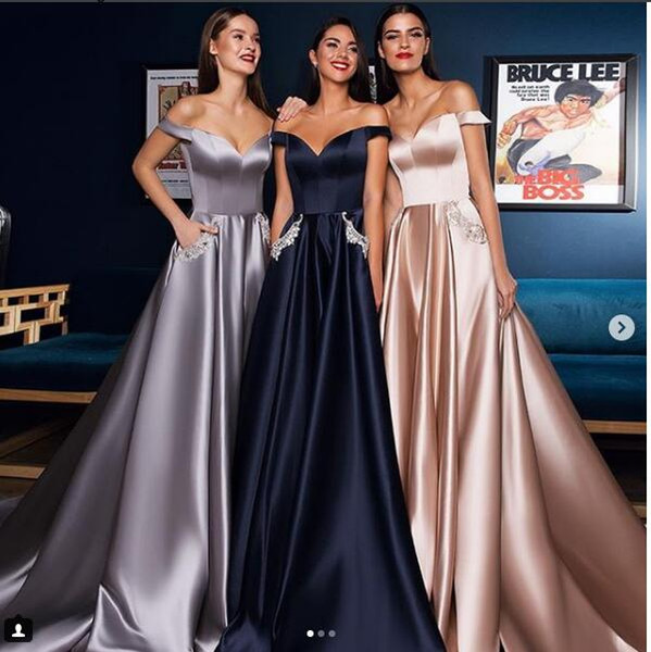 a line african navy blue bridesmaids dresses with pocket 2019 long pink party prom maid of honor dresses