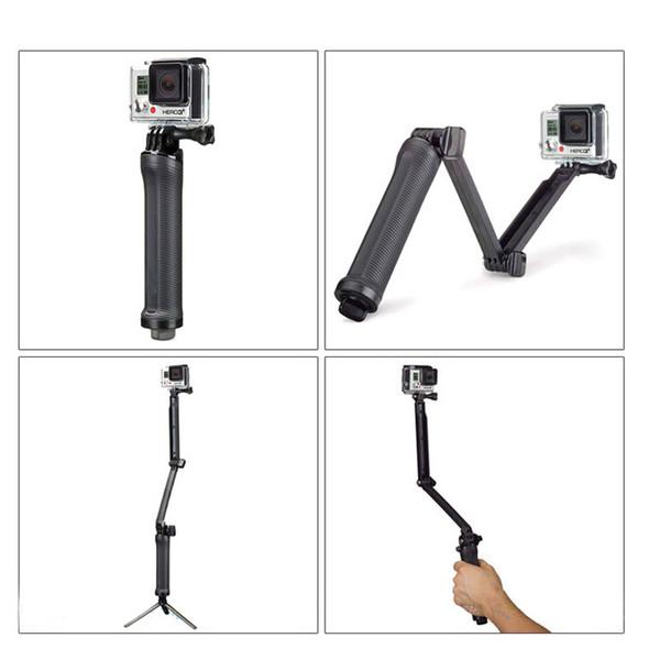 neues 3 Weg Einbeinstativ-Stativ für Hero5 xiaomi yi 4k 2 sjcam sj4000 sj5000 sj5000x sj6000 sj7000 sj8000 sj9000 sj M10 Kamera