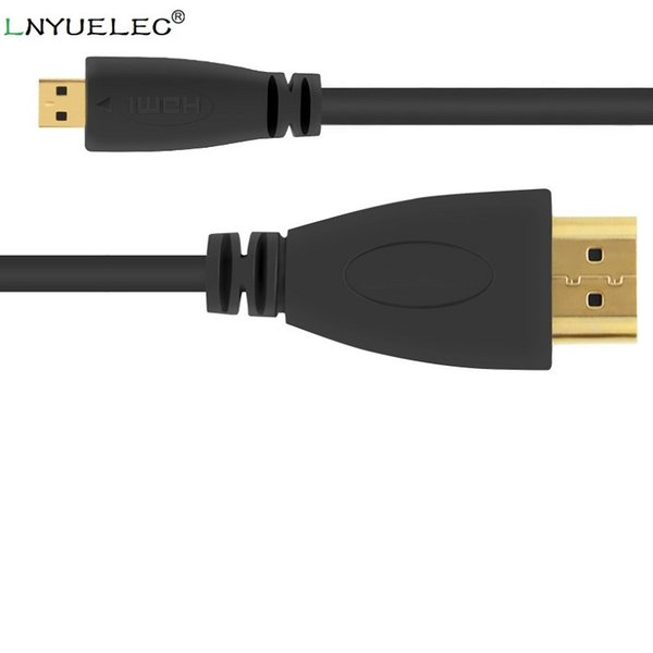 50PCS/lot High Speed Micro HDMI (Type D) to HDMI (Type A) Cable- 24K Gold Connectors - ideal For Connecting HD Devices using the new Micro