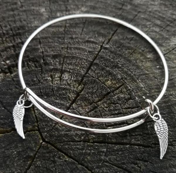 Free Ship 300PCS Tibetan Silver angel Charms Pendant For Bracelet 18x7mm