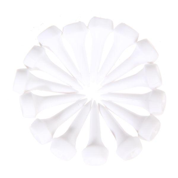 50 unids / lote Blanco Plástico Golf Tees 35mm Durable Cojín Top Golf Tee Golf Accesorios (1 3/8 Pulgadas) Al Por Mayor