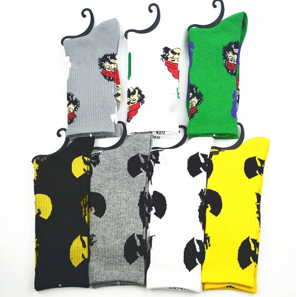 best selling MOQ10pairs Sock WU Tang & CHEECH CHONG leaf cotton socks men women Street Socks Plantlife crew socks free shipping