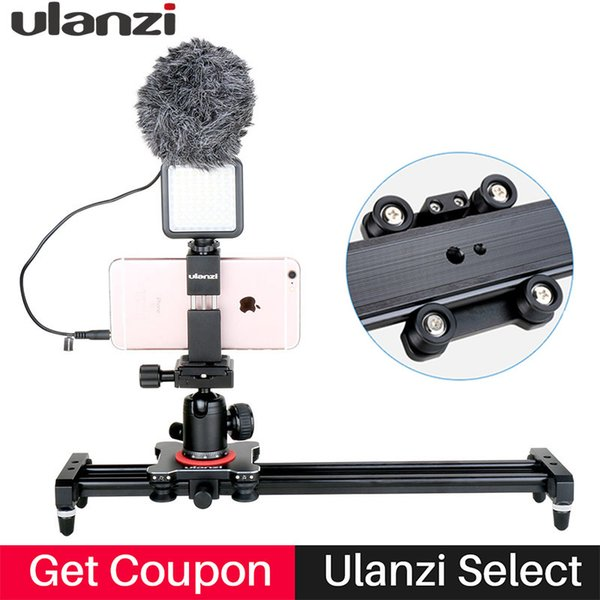 wholesale 40cm Follow Focus Camera Video Slider Rail Track Dolly Rail System with 4 Bearings for iPhone X 7p Nikon Canon Sony DSLR